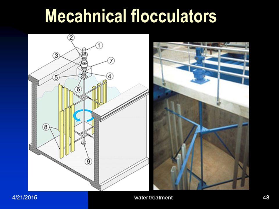4/21/2015water treatment48 Mecahnical flocculators