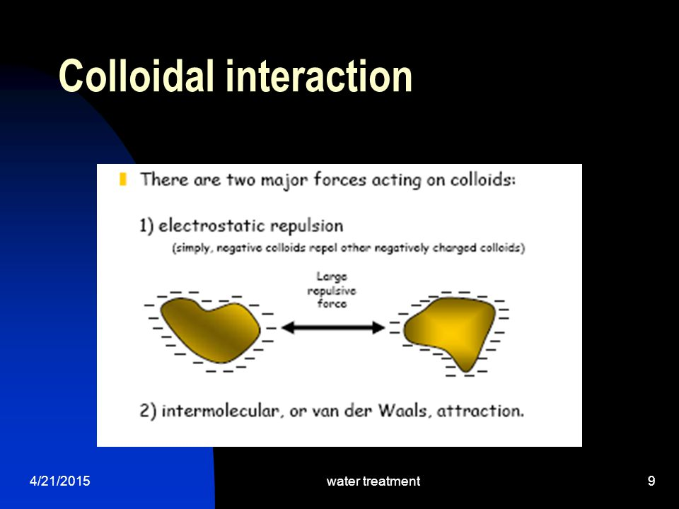 Colloidal interaction 4/21/2015water treatment9