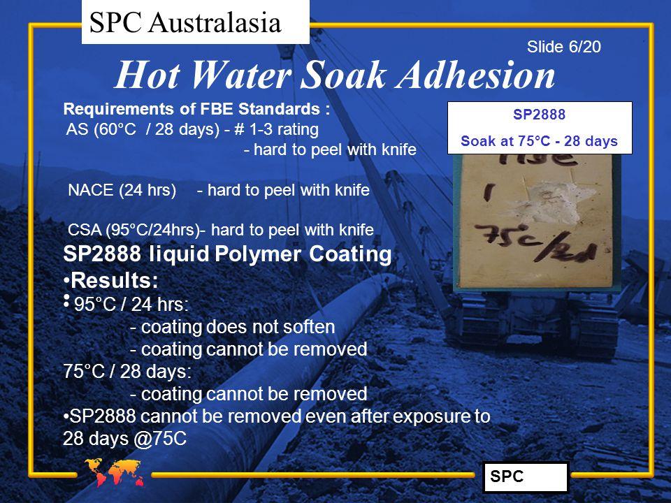SPC SPC Australasia SP2888 LPE Results at 0°C> 2.5 degrees/pipe diam.