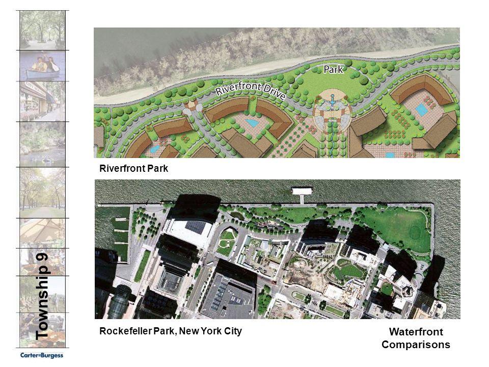 Township 9 Waterfront Comparisons Rockefeller Park, New York City Riverfront Park