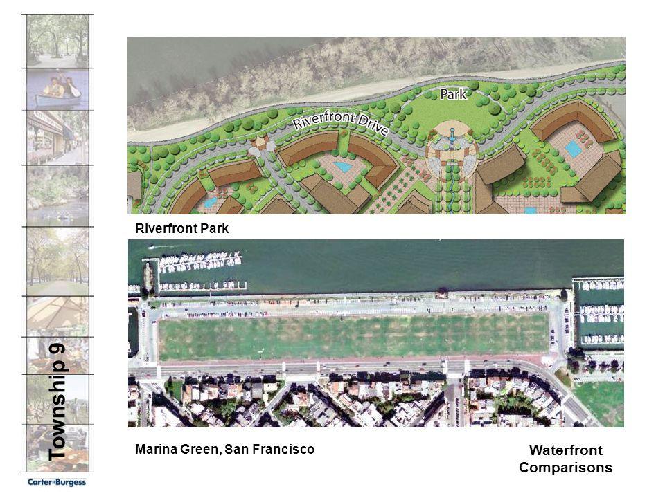 Township 9 Waterfront Comparisons Marina Green, San Francisco Riverfront Park
