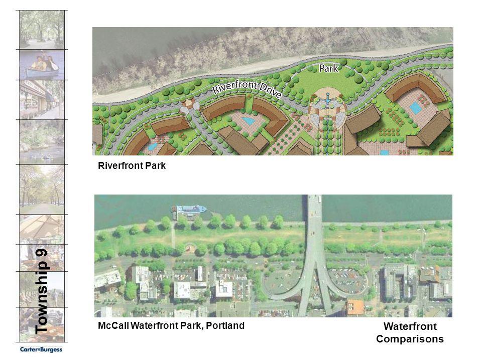 Township 9 Waterfront Comparisons McCall Waterfront Park, Portland Riverfront Park