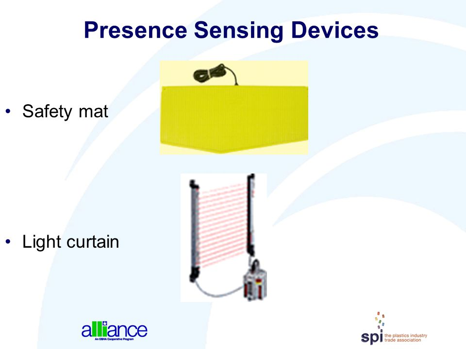 Presence Sensing Devices Safety mat Light curtain