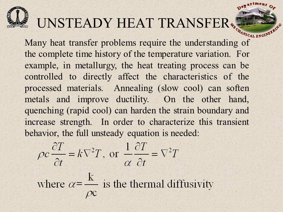 A heated/cooled body at T i is suddenly exposed to fluid at T  with a known heat transfer coefficient.