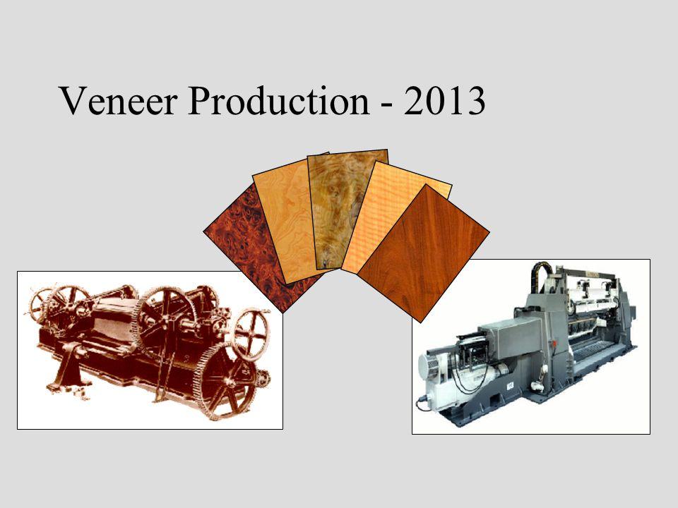 Veneer Production - 2013