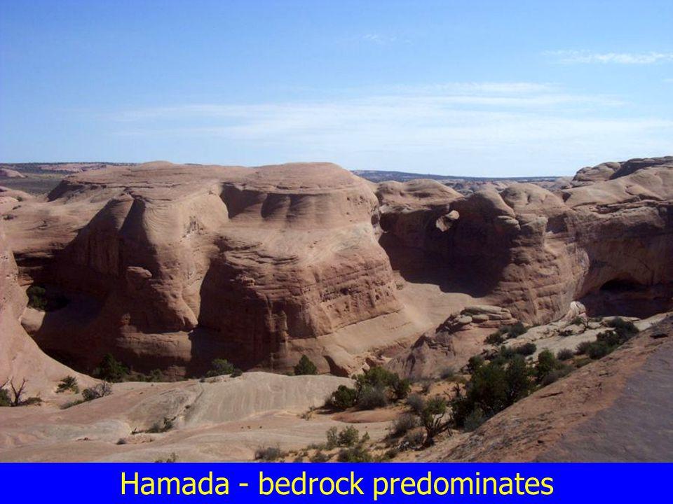 Hamada - bedrock predominates