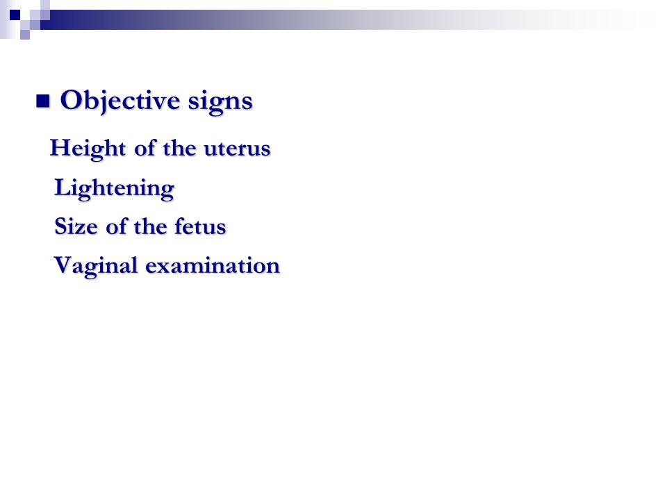 Question Hegar's sign