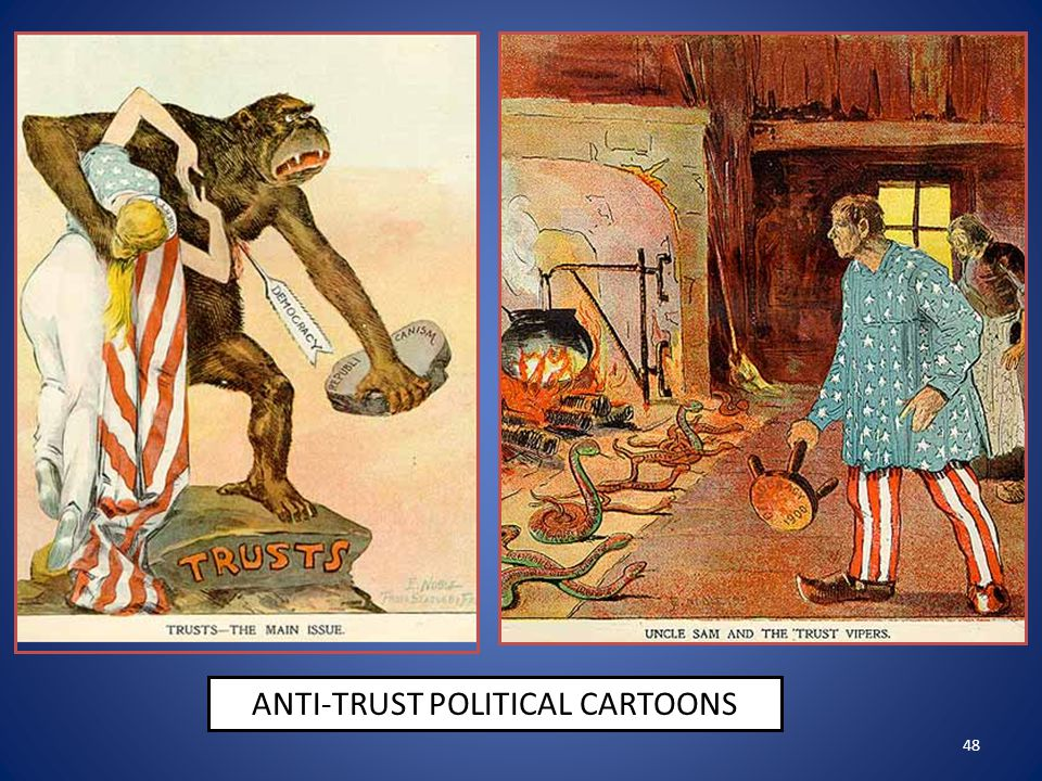 48 ANTI-TRUST POLITICAL CARTOONS