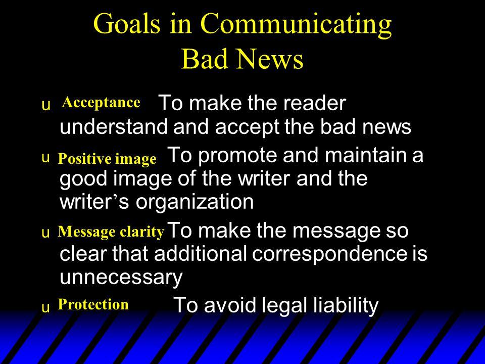 Buffer Reasons Bad News