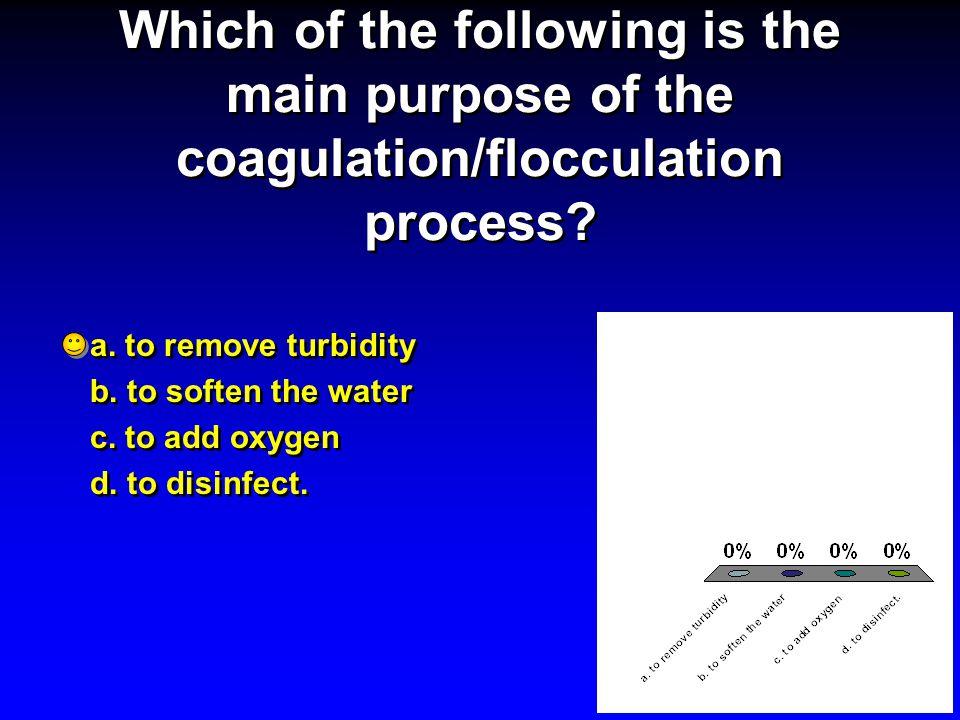 Optimum flocculation requires: a.violent agitation b.