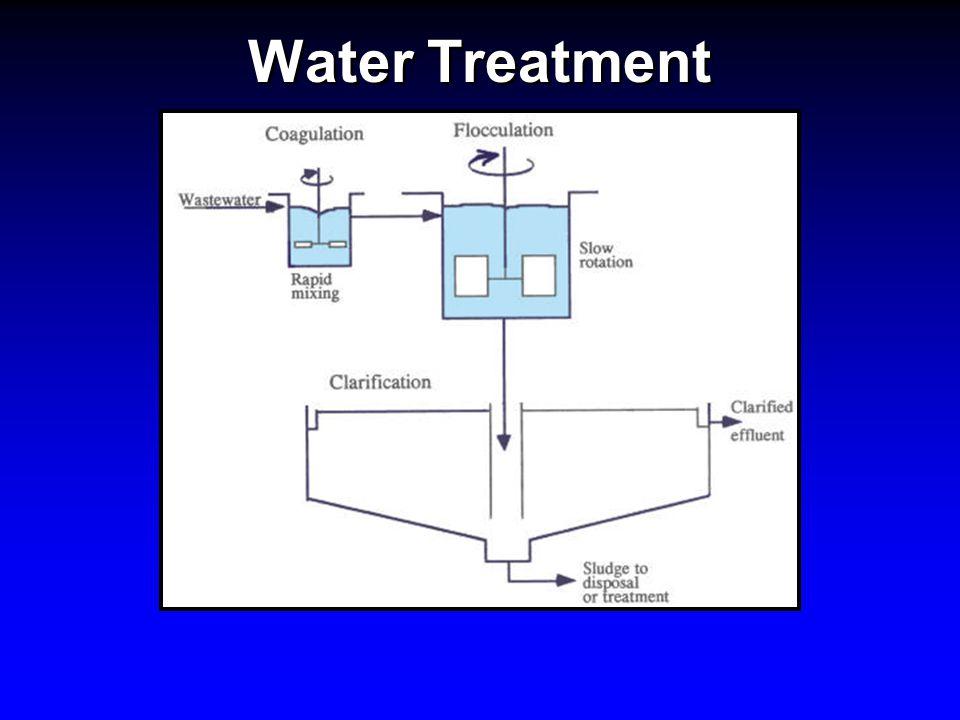 Water Treatment Coagulant Aids Bentonite (clay)- helps improve coagulation, decreases volume of coagulant necessary.