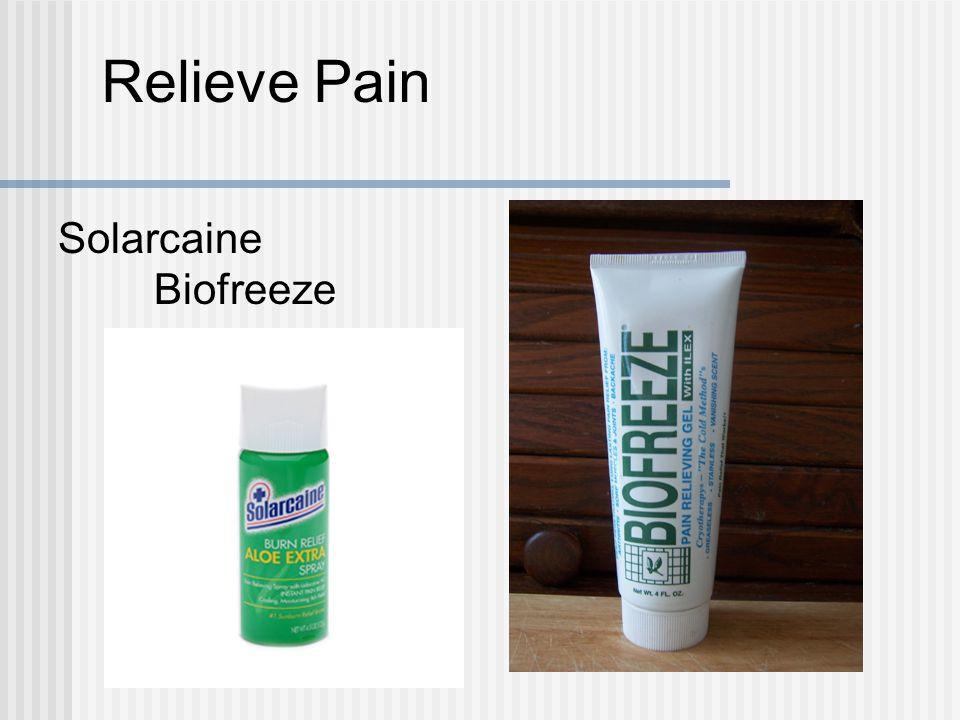Relieve Pain Solarcaine Biofreeze