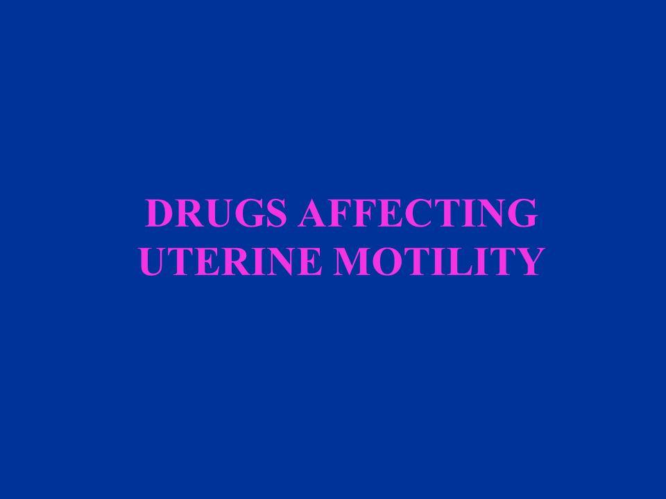 DRUGS AFFECTING UTERINE MOTILITY