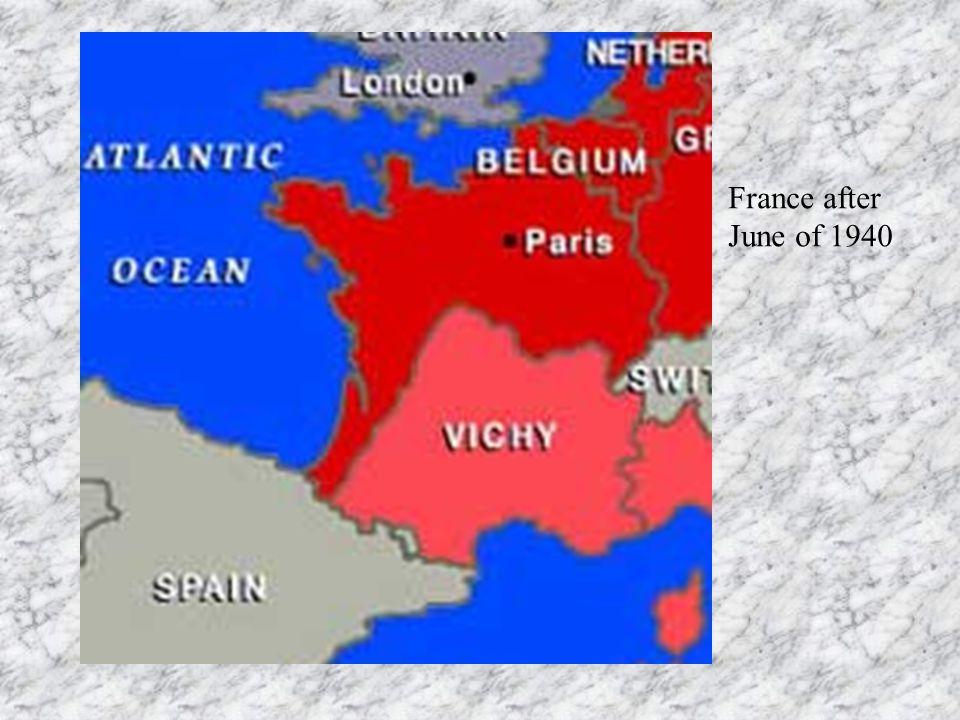France after June of 1940