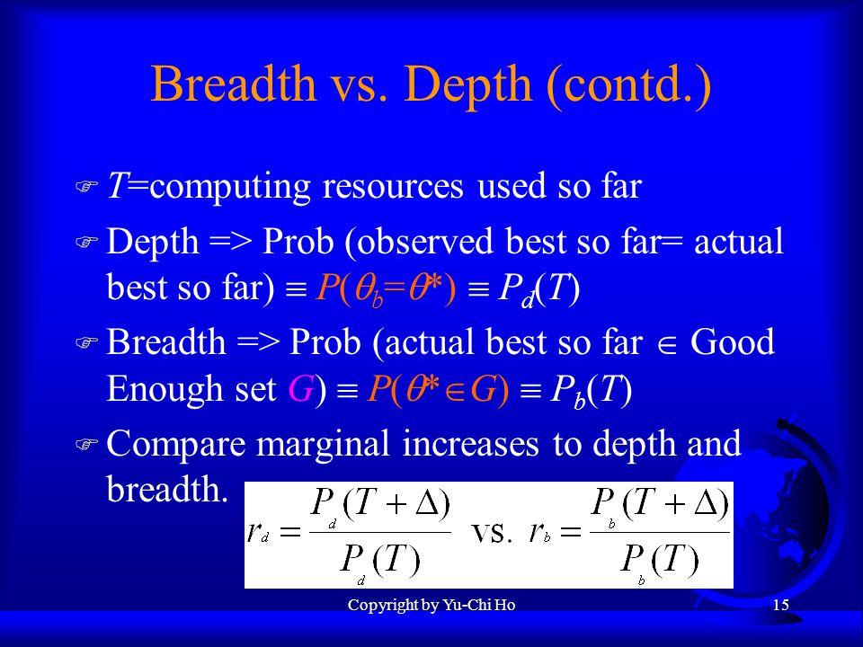 Copyright by Yu-Chi Ho15 Breadth vs.