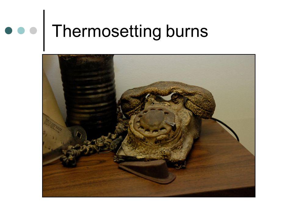 Thermosetting burns