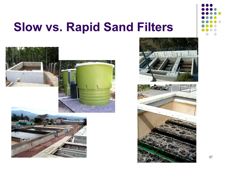 Slow vs. Rapid Sand Filters 87