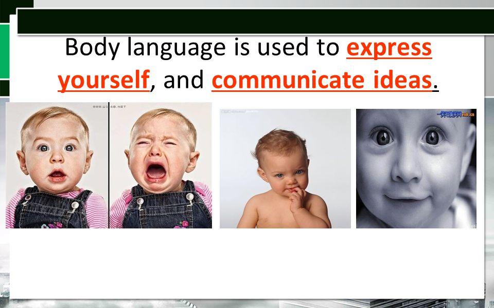 Body Language is… ActionsEmotionsIdeas 123