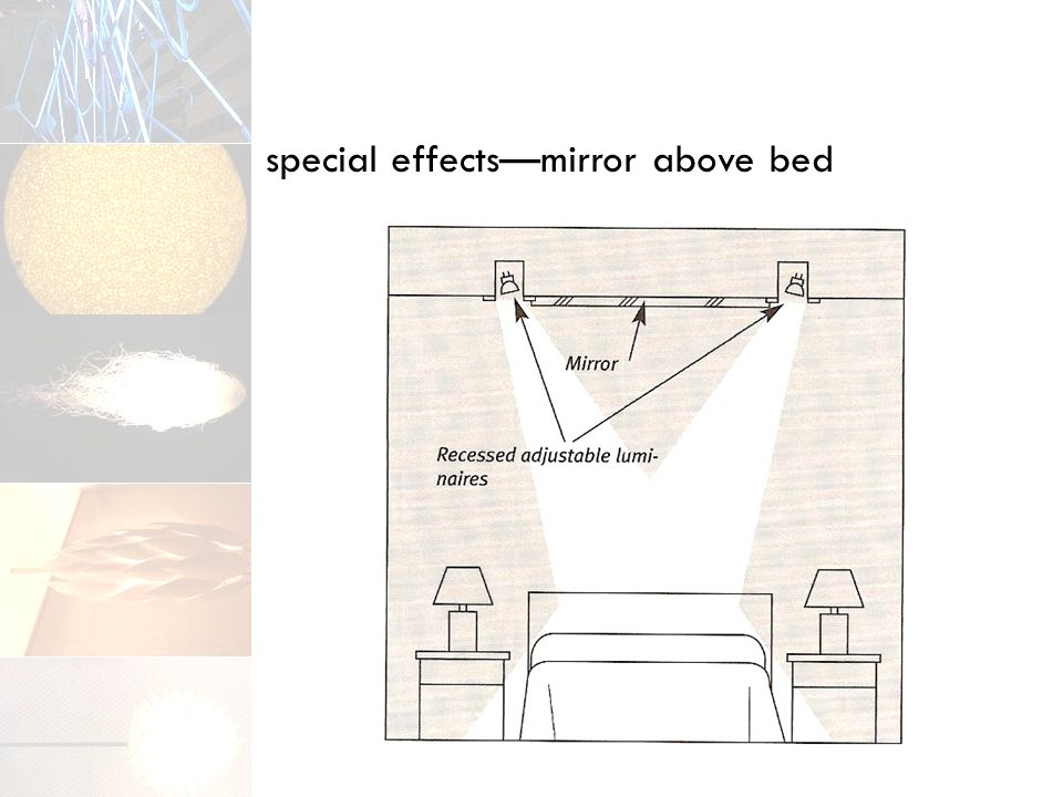 special effects—mirror above bed