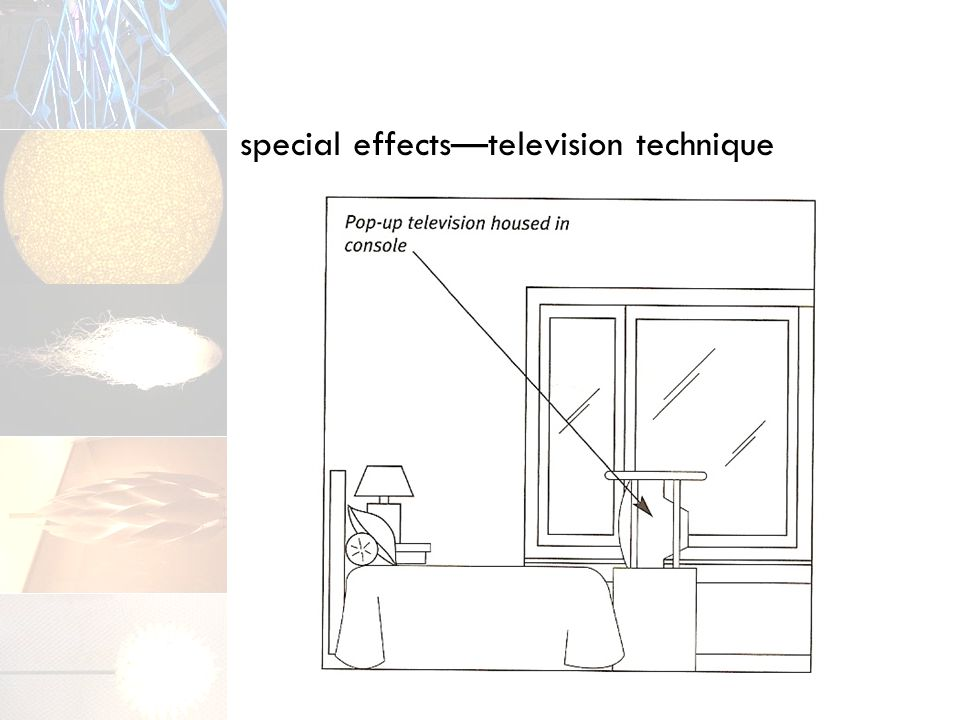 special effects—television technique