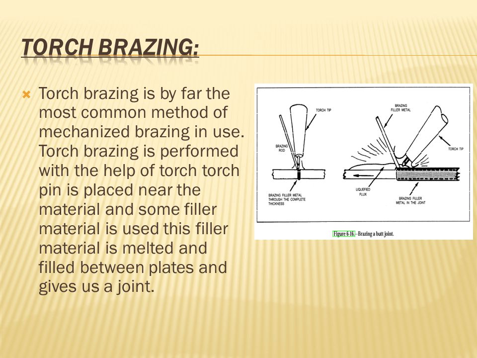  Torch brazing is by far the most common method of mechanized brazing in use.
