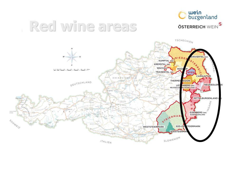 Red wine areas [Einfügen: Karte Burgenland] [Einfügen: Karte Burgenland]