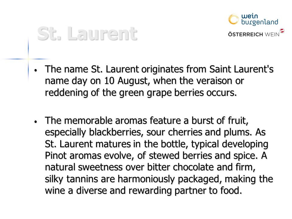 St. Laurent The name St.