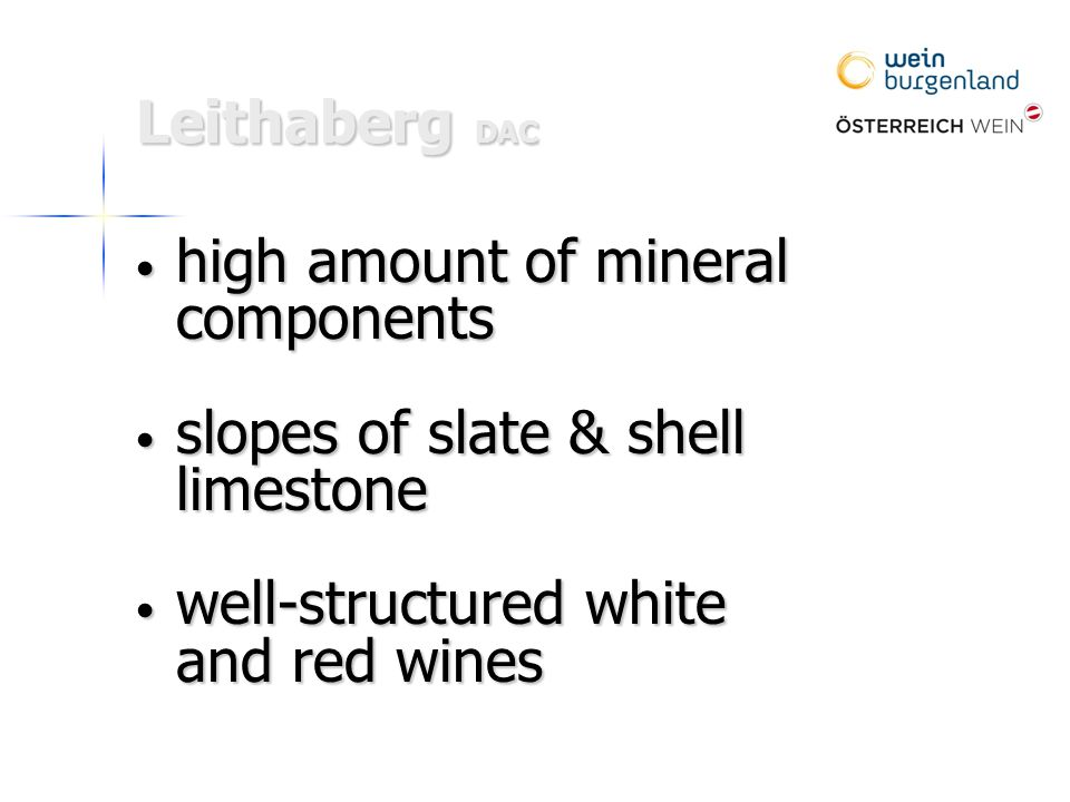 high amount of mineral high amount of mineralcomponents slopes of slate & shell limestone slopes of slate & shell limestone well-structured white well-structured white and red wines