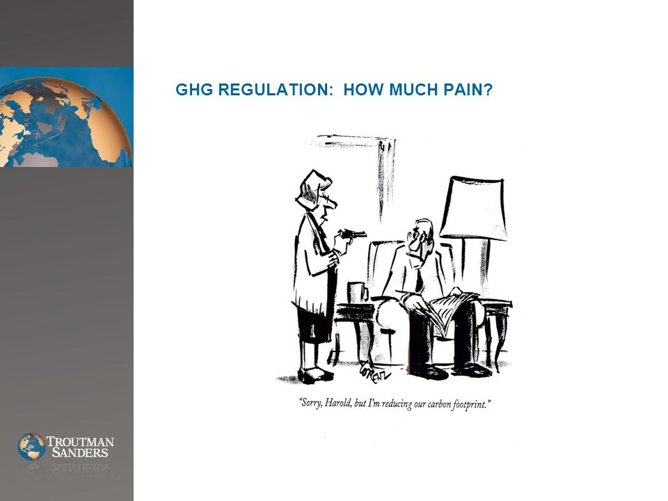 GHG REGULATION: HOW MUCH PAIN