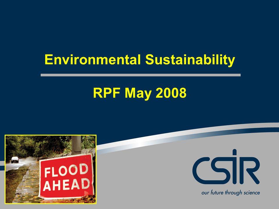 Environmental Sustainability RPF May 2008