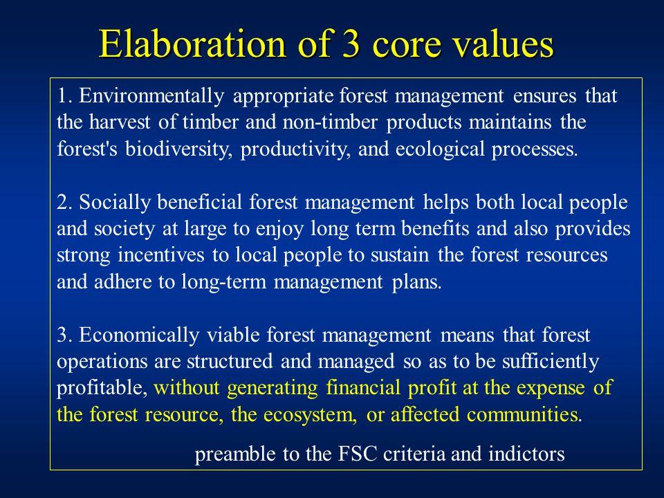 Elaboration of 3 core values 1.