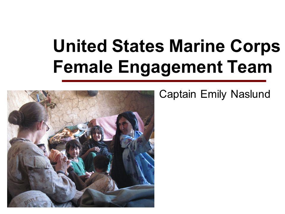 United States Marine Corps Female Engagement Team Captain Emily Naslund