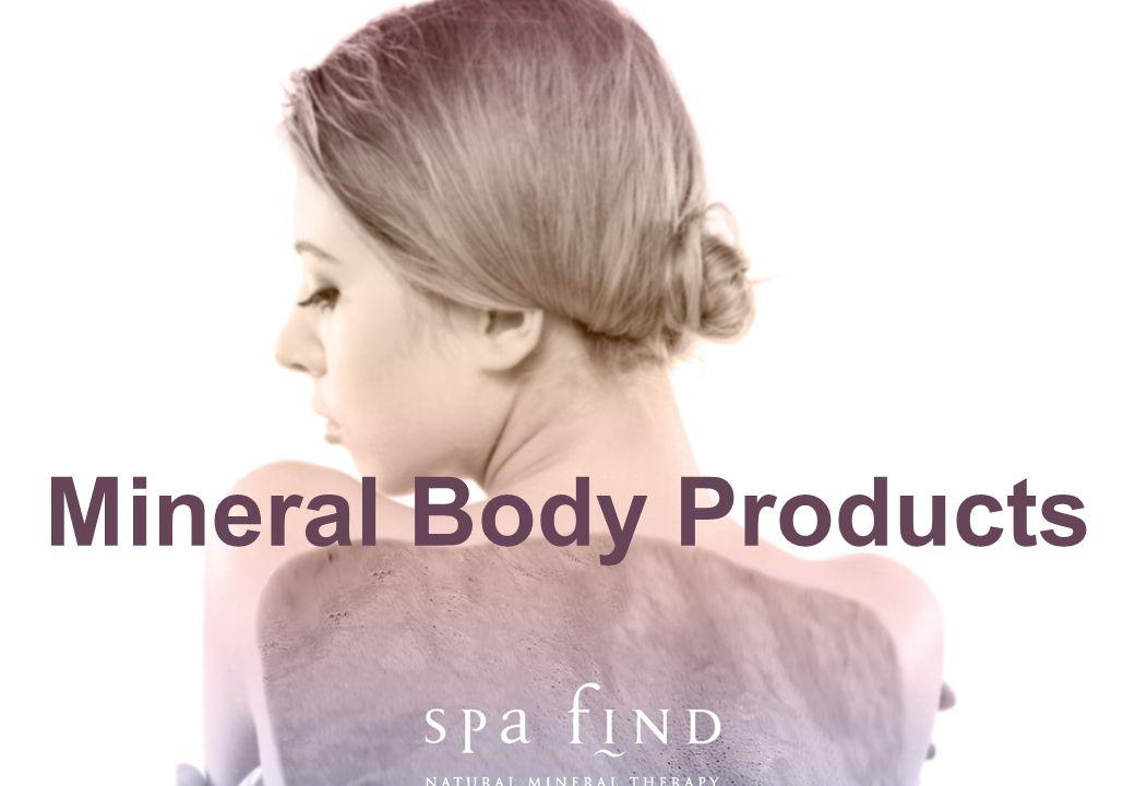 www.shopforspatrade.com Mineral Body Products