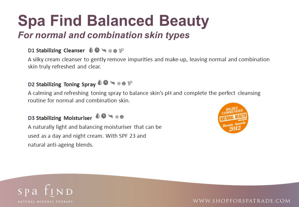 www.shopforspatrade.com Spa Find Balanced Beauty For normal and combination skin types W2 Stabilizing Mud Mask A rich mud mask, devoted to deep-cleansing the pores, smoothing and brightening the skin and fighting away frustrating blemishes.
