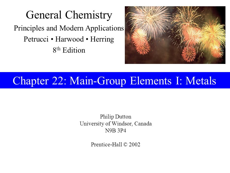 Prentice-Hall © 2002General Chemistry: Chapter 22Slide 22 of 47 Dow Process for Production of Mg