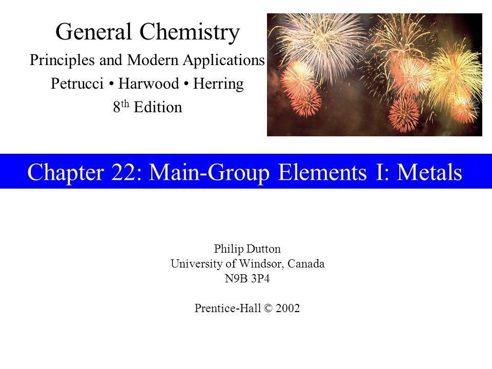 Prentice-Hall © 2002General Chemistry: Chapter 22Slide 32 of 47 22-4 Group 13 Metals: Aluminum, Gallium, Indium and Thallium