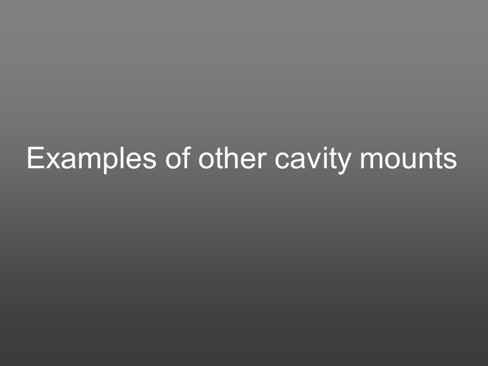 Examples of other cavity mounts