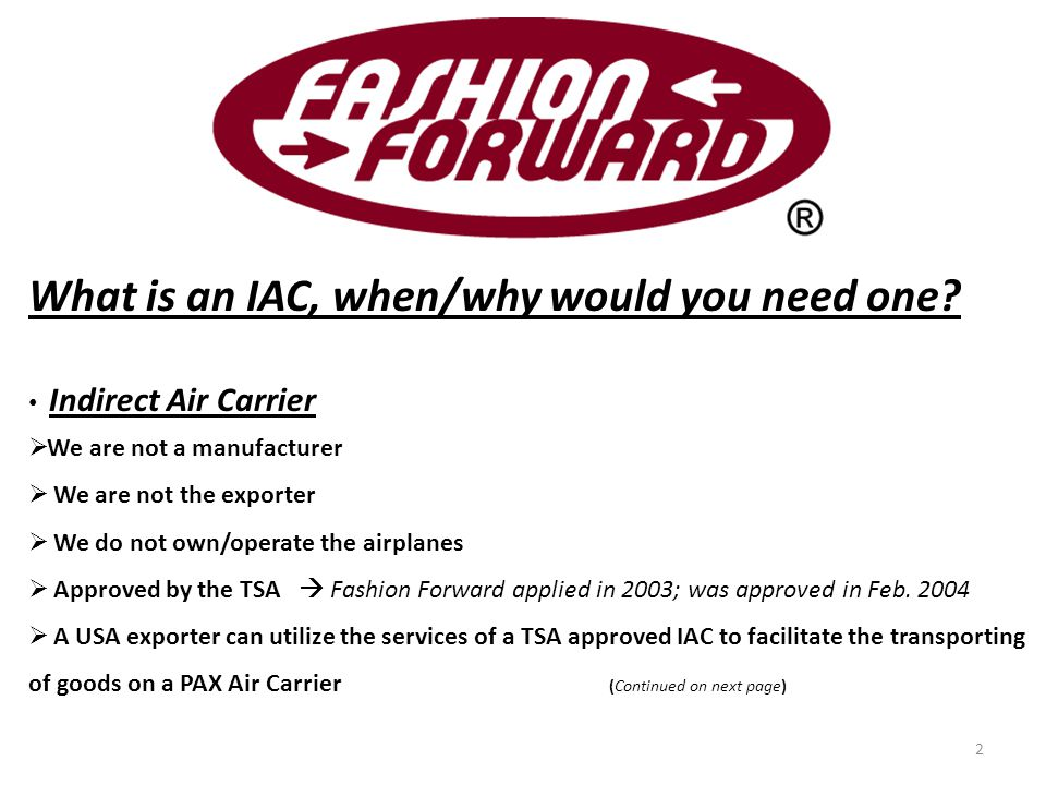 What is an IAC, when/why would you need one.