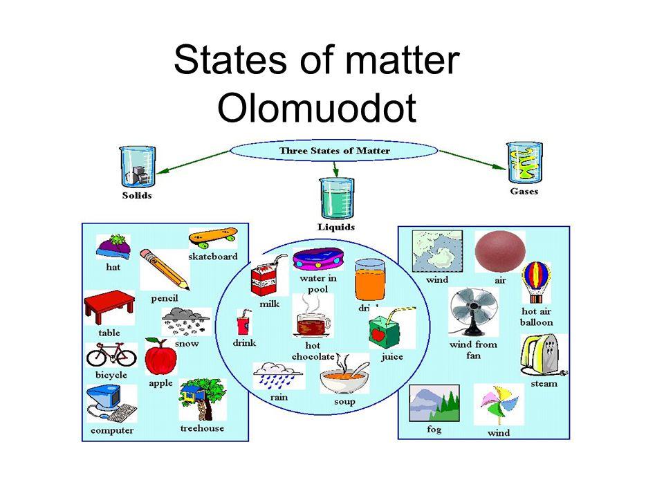 States of matter Olomuodot