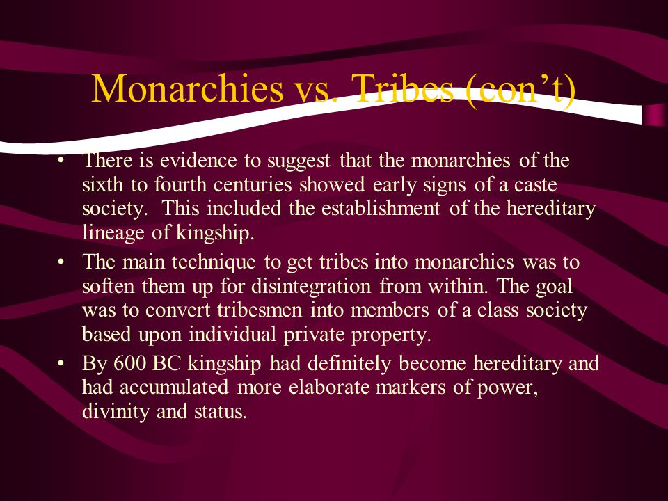 Monarchies vs.