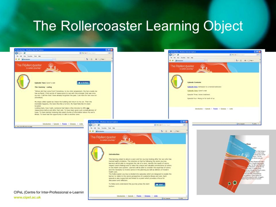 The Rollercoaster Learning Object