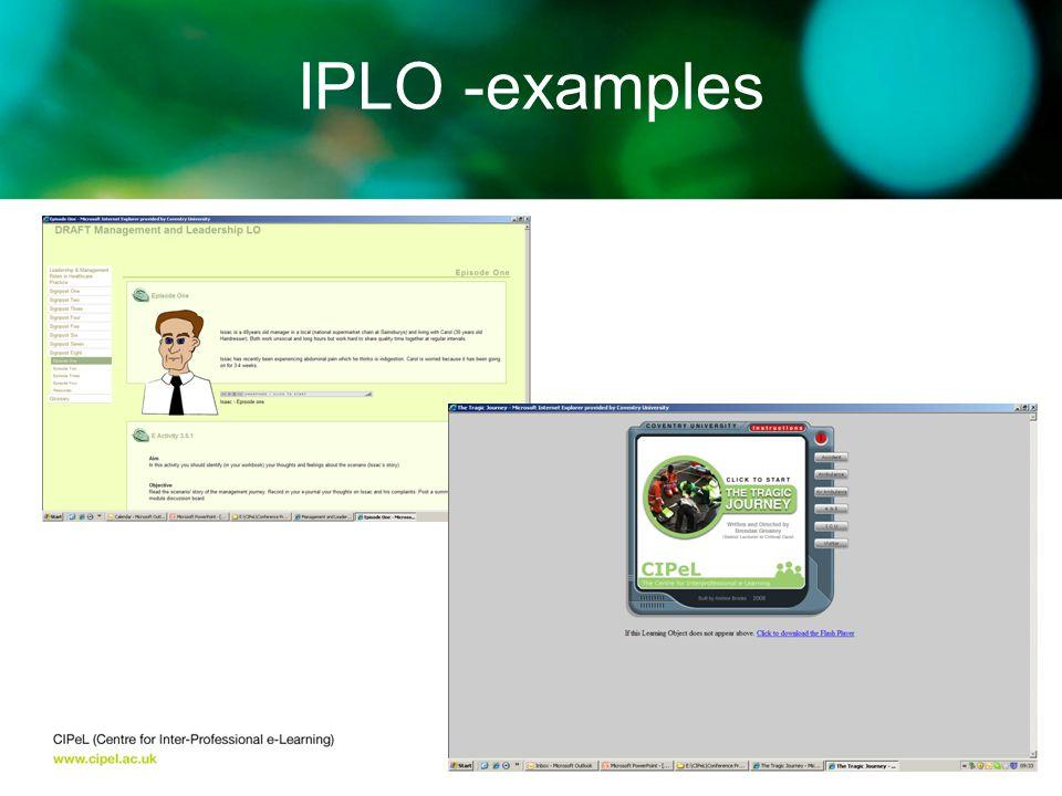 IPLO -examples