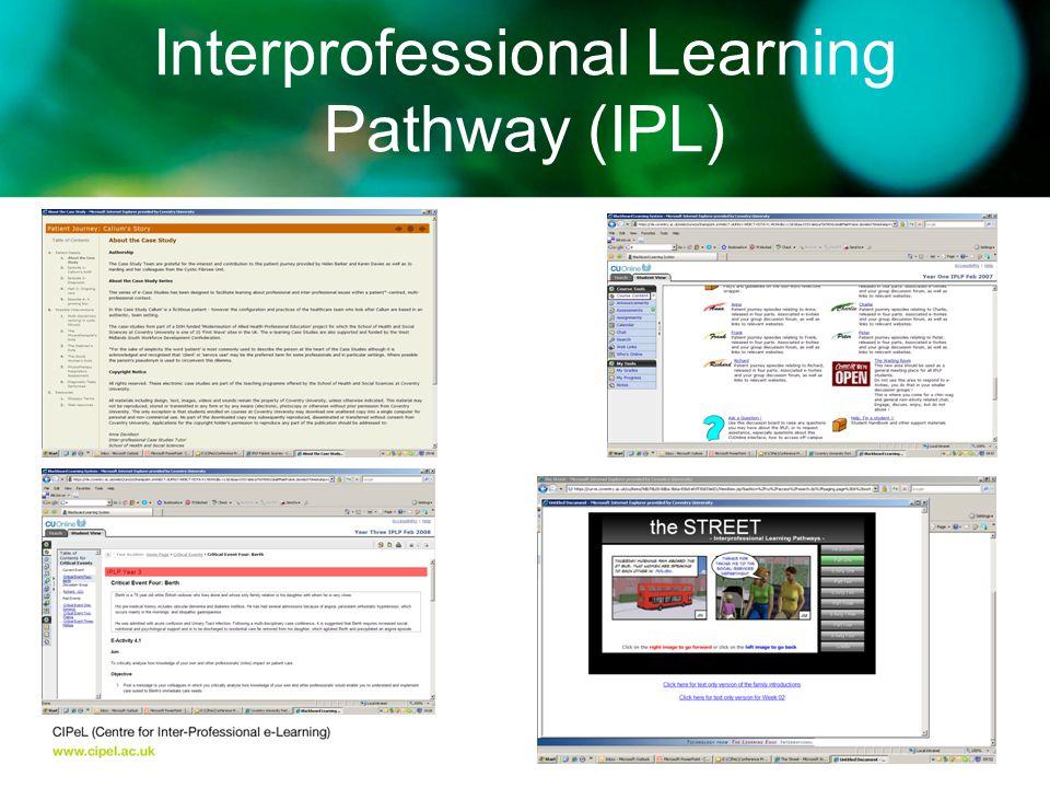 Interprofessional Learning Pathway (IPL)