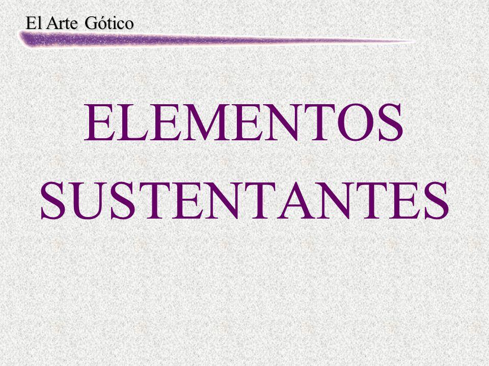 El Arte Gótico ELEMENTOS SUSTENTANTES