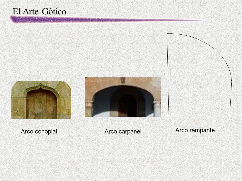 El Arte Gótico Arco rampante Arco carpanelArco conopial