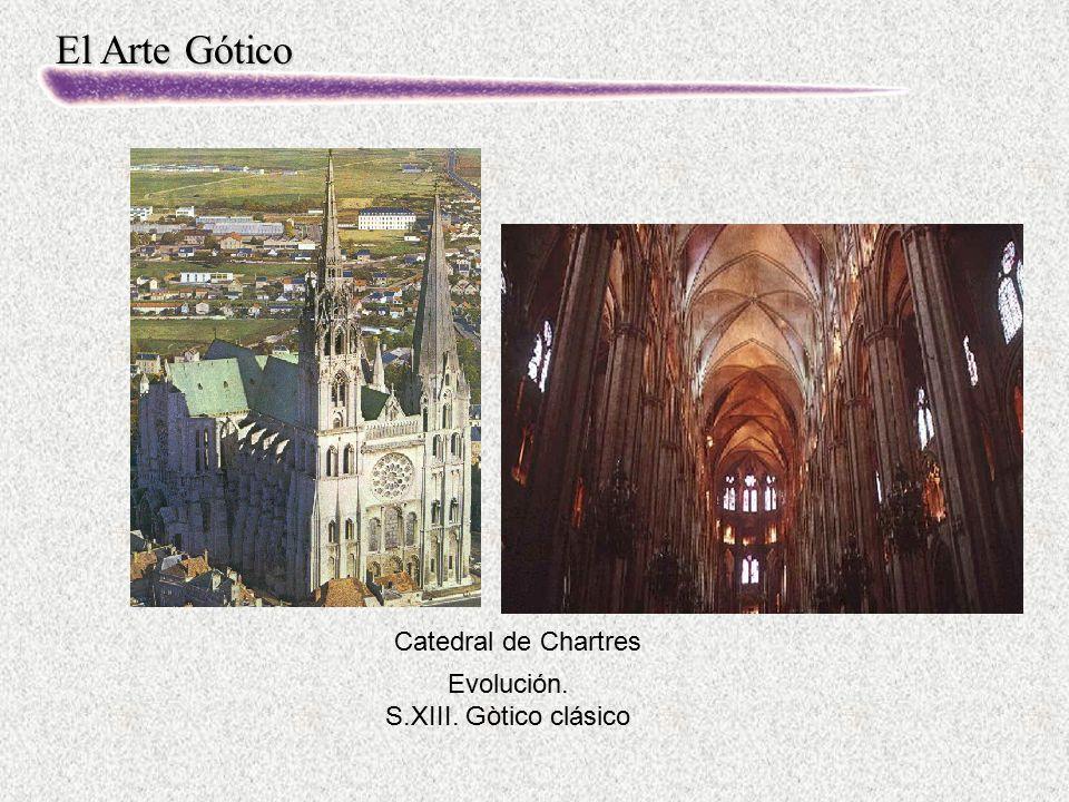 El Arte Gótico Evolución. S.XIII. Gòtico clásico Catedral de Chartres