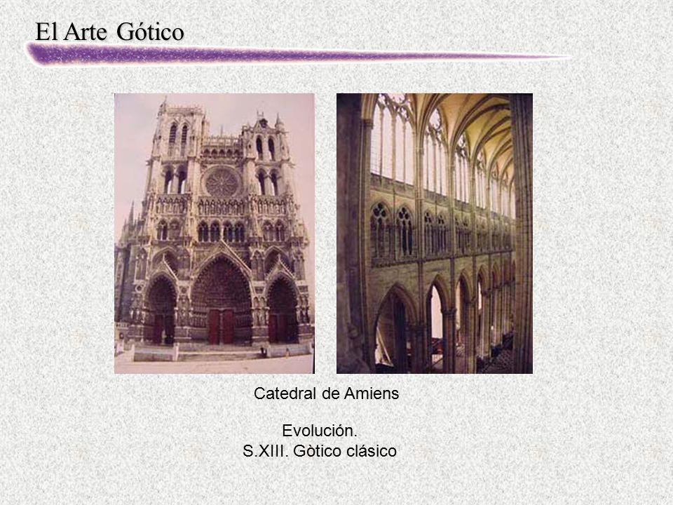 Evolución. S.XIII. Gòtico clásico Catedral de Amiens