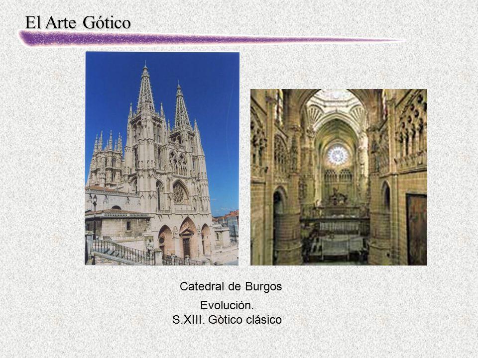 El Arte Gótico Evolución. S.XIII. Gòtico clásico Catedral de Burgos