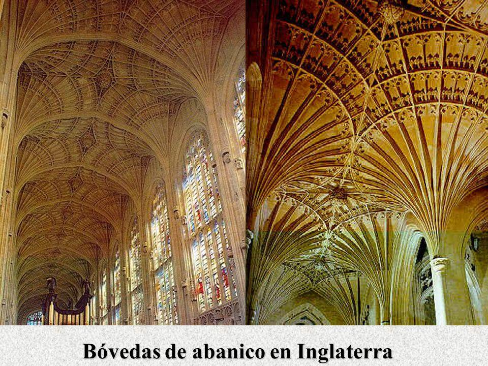El Arte Gótico Elementos arquitectónicos Bóvedas de abanico en Inglaterra