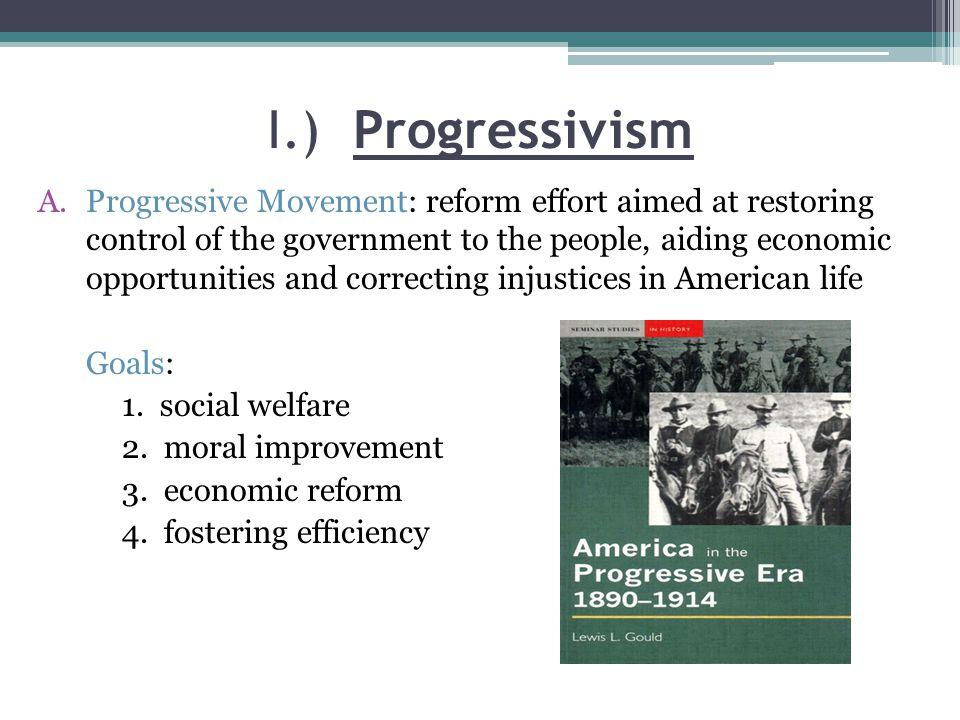 Reforms under Progressivism Chapter 9 Section 1 Notes